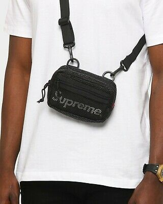 $ CDN138.61 • Buy SUPREME Small Shoulder Crossbody Bag Black SS20 Logo