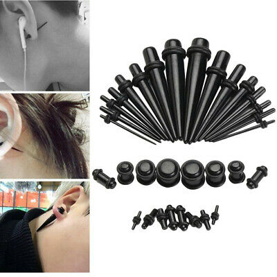 36X Ear Stretching Set Expander Body Piercing Tunnel Plug Tool Acrylic Tapers UK • 6.30£