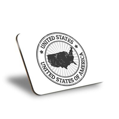 1 X Placemat Cork 290X215 - BW - United States Of America Map Travel US  #40194 • 9.99£