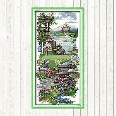 A TRANQUIL PATH COUNTED CROSS STITCH KIT 14 COUNT AIDA FINISHED SIZE 18x34CM • 9.99£