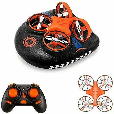 AU55.96 • Buy Mini Drone For Kids, Remote Control 2-in-1 Hovercraft And Drone Toy