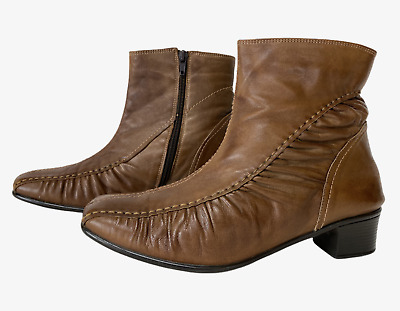 PAVERS Ladies Womens Boots Size UK 7 Eu 40 Brown Leather Ankle • 12.99£