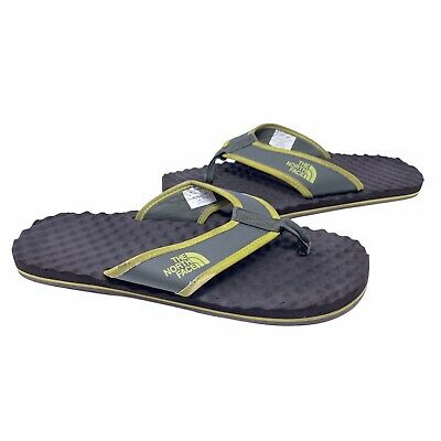The North Face Base Camp Flip-Flops Mens Size 11 Brown Green Yellow • 11.01£