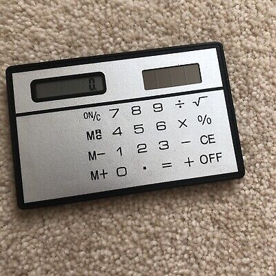 Mini Calculator Credit Card Size Stealth School Cheating Pocket Size 8 Dd • 2.72£
