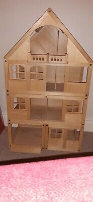 ECL/Large Wooden Dolls House - Plus Variety Of Accessories, Pet/smoke Free Home • 135£