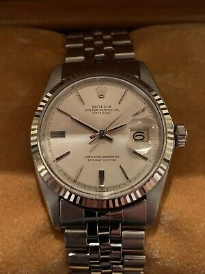 $ CDN6100 • Buy Rolex Datejust 1600 / 1601 Vintage Jubilee W/ White Gold Bezel & Rolex Box