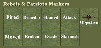 £10.62 • Buy Game Markers For Skirmish Miniatures Wargames