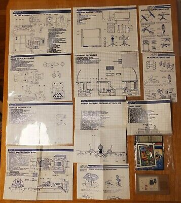 $ CDN82.93 • Buy Vintage GI Joe Lot Of 11 Blueprints ('83-'86) + Inserts & RAM Stickers