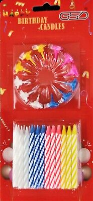 £1.85 • Buy Birthday Candles Party Celebration Cake Candles 24 Pcs + 12 Holders Pack