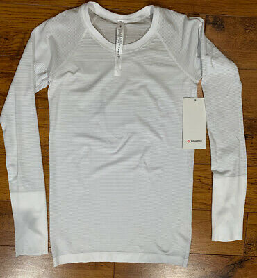 $ CDN102.06 • Buy Lululemon NWT Size 6 - Swiftly Tech Long Sleeve 2.0 Sun UV Changing Yarn White