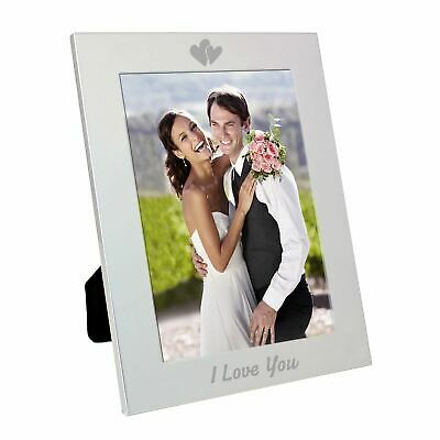 Silver 5x7 I Love You Photo Frame • 9.99£