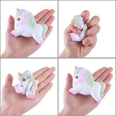 AU2.30 • Buy Jumbo Slow Rising Cute Unicorn Charms Scented Squeeze For Kids Toys Gift SK