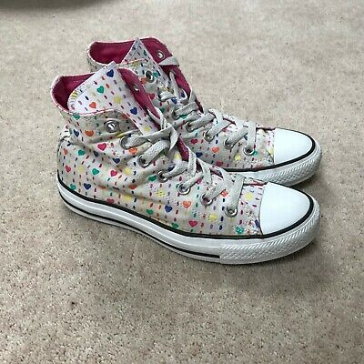 Womens Converse All Star Hearts Hi Top Trainers Uk 5 Lace Up Shoes  • 16.99£
