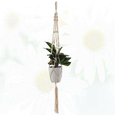 $ CDN10.48 • Buy 1Pc Gardening Pots Net Macrame Cotton Rope Hanging Basket For Courtyard Garden