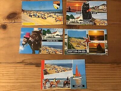 5 Hopton-on-Sea Postcards (024) • 1.50£