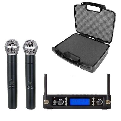£122.41 • Buy UHF Professional Wireless Dual Handheld  Microphone  For SONY Wireless With Case