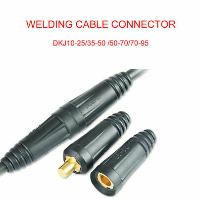 Male Female Copper Cable Connector Welder Quick Fitting Socket Plug Welding Tool • 3.59£