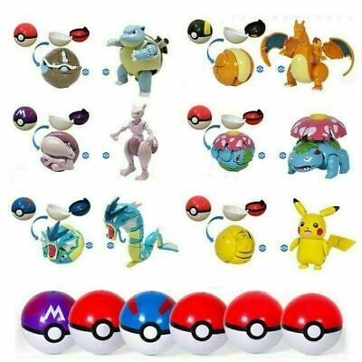 Deformation Pokeball Action Figure Toys Transform Pikachu Charizard Mewtwo Gifts • 12.99£