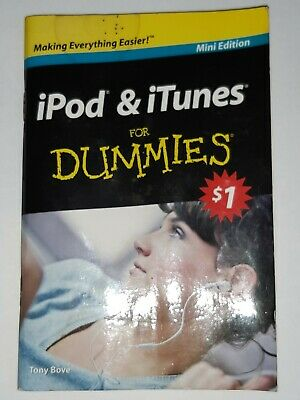 AU1 • Buy Ipod & Itunes For Dummies Mini Eddition Book  Tony Bove