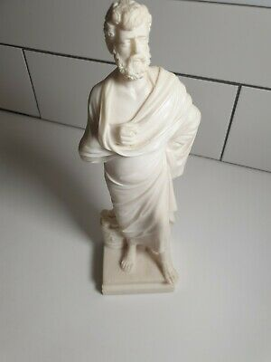 GREEK Hand Made ALABASTER Statue Figure Great Tragic Playwright SOPHOCLES 30cm • 18£