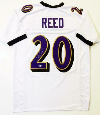 $ CDN249.39 • Buy Ed Reed Autographed White Pro Style Jersey - Beckett Auth *2