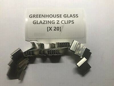 Greenhouse Glass Z Clips Glazing Clips Pack Of 20 • 2.33£