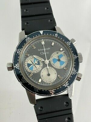 $ CDN13352.85 • Buy Vintage Heuer Orvis Solunagraph Valjoux 721 Manual-Wind Chronograph Wristwatch