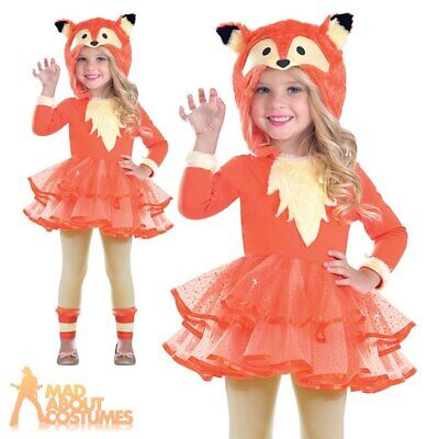 Girls Fantastic Fox Costume KIds Animal Hooded Tutu Book Day Fancy Dress Child • 13.49£