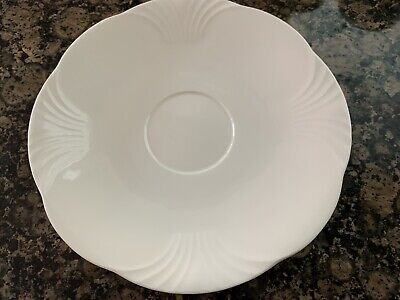 """Villeroy & Boch Bone China Mettlach ARCO WEISS White 7"""" Saucer W. Germany - Mint • 10.97£"""