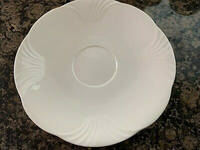 """£10.78 • Buy Villeroy & Boch Bone China Mettlach ARCO WEISS White 7"""" Saucer W. Germany - Mint"""