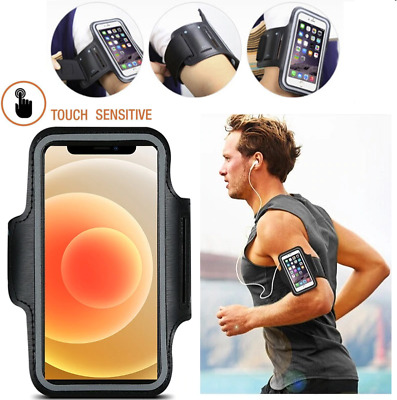 Waterproof Running Arm Band Phone Holder Touchscreen For IPhone 12 11 XR 8 Plus • 3.95£