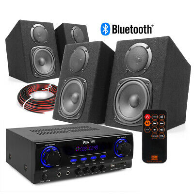 DMS40 HiFi Speaker Set And Stereo Amplifier, Bluetooth MP3 Home Music System • 150£