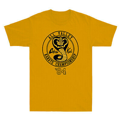 $15.88 • Buy All Valley Karate Championship Yellow Cobra Kai 80's Kung Fu Movie Men's T-Shirt