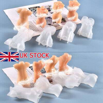 3D Body Candle Chocolate Baking Mold Silicone Wax Resin Casting Soap Mould Craft • 6.39£