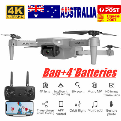 AU65.56 • Buy E88 RC Drone With 4K HD Wide Angle Camera Wifi FPV Quadcopter Drone 4 Batteries
