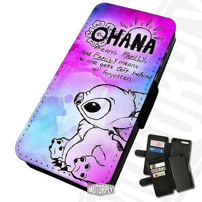 £9.75 • Buy Printed Faux Leather Flip Phone Case For IPhone - Ohana-Pink-&-Blue-Paint-Splat