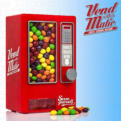 Vend-O-Matic Mini Vending Machine Sweet, Candy, Jelly, Gum, Nuts Dispenser Bank • 3.95£