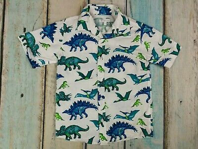 Bluezoo Brand New Boys Dinosaurs Pattern Short Sleeved Shirt Age 5-6 Years • 11.19£
