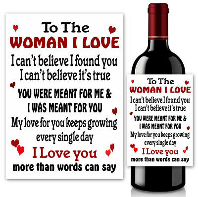 AU4.06 • Buy  Valentine's Day Love Gifts For The Woman I Love Gifts For Her Wine Bottle Label