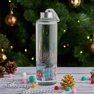 Sports Gym Recyclable Glass Water Drinking Bottle Protection Brand New • 8.99£