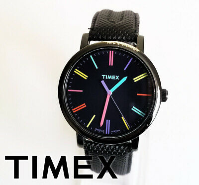 Classic Timex Indiglo Easy Reader Unisex Quartz Watch Colorful Dial • 22.90£