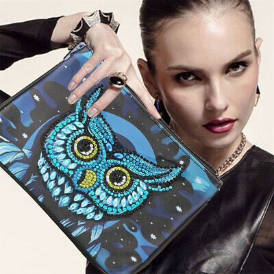 £5.31 • Buy 5D Diamond Painting Clutch Bag Leather Wallet Purse DIY For Women Creative UK