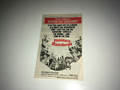 FINIANS RAINBOW Movie Pressbook Herald 1968 Fred Astaire Musical Fantasy • 7.36£