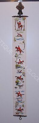 Embroidered Bell Pull Cord Equestrian Hunting Theme • 46.49£