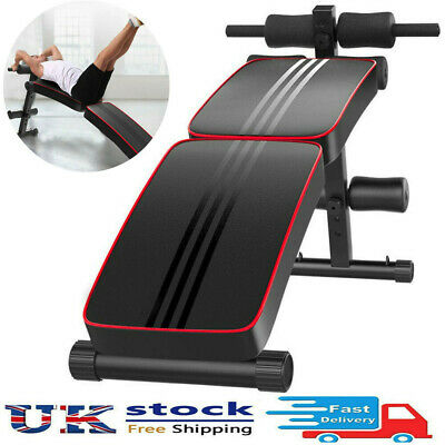 £35.86 • Buy Foldable Sit Up Bench Core Workout Fitness Equipment Home Gym Trainer Band Black