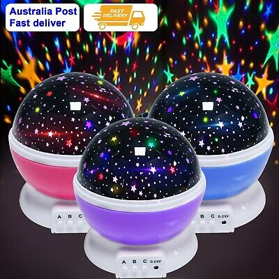 AU9.99 • Buy LED Night Star Sky Projector Light Lamp Rotating Starry Baby Room Kids  Gift