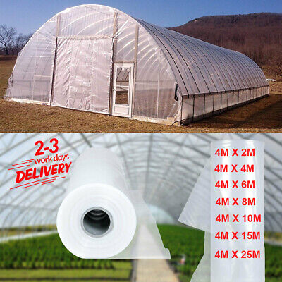 Clear Film Poly Tunnel Greenhouse Plastic Sheet Cover Foil Horticultural Garden • 11.18£