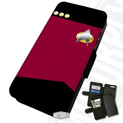 £9.75 • Buy Printed Faux Leather Flip Phone Case For IPhone -  Red-Shirts-Star-Trek