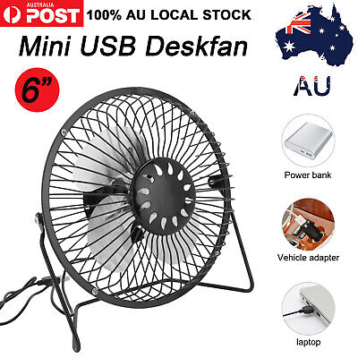AU14.99 • Buy NEW Mini USB Desk Fan Small Quiet Personal Cooler USB Powered Portable Table Fan