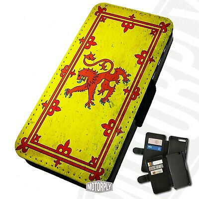 Printed Faux Leather Flip Phone Case For IPhone -  Scottish-Lion-Rampant-Flag • 9.75£